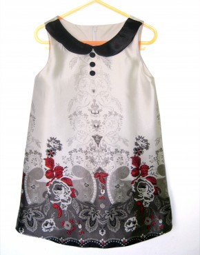 Детска официална рокля с якичка