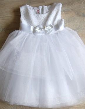 Туту рокля за кръщене с дантела