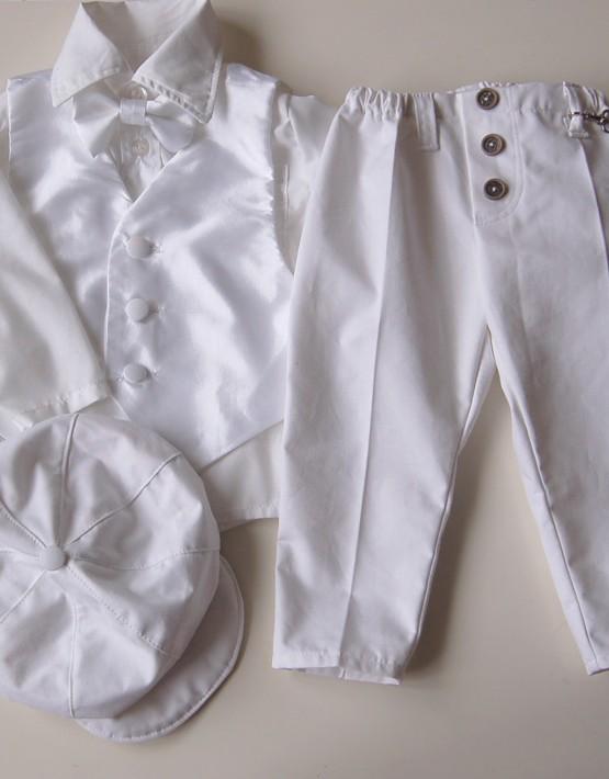 Комплект за кръщене за момче с тесен панталон