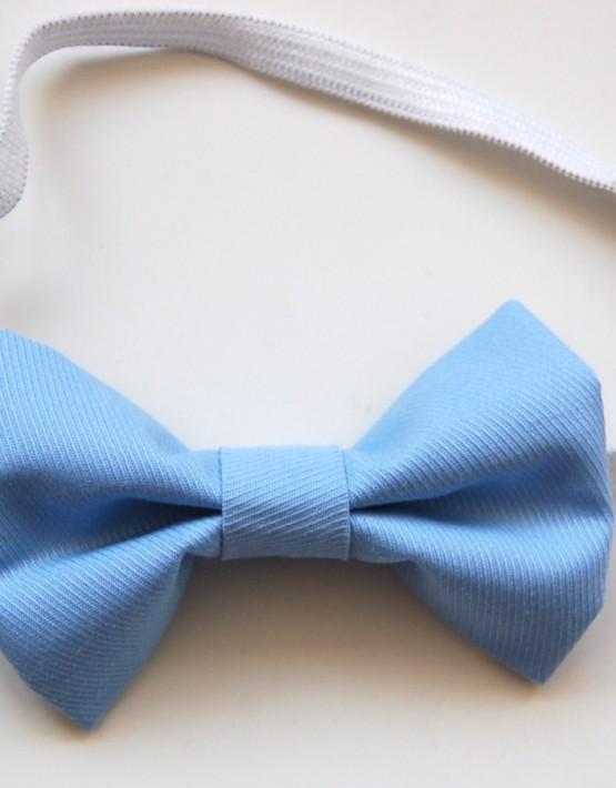 Светло синя памучна папионка
