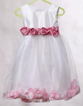 Детска официална рокля с листа
