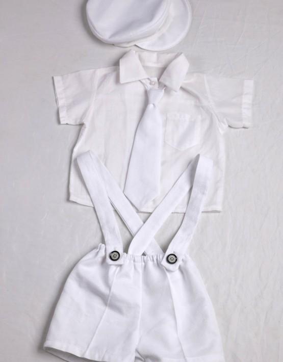 Комплект кръщене с къс панталон