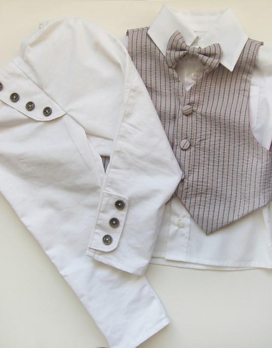 Комплект за кръщене момче - панталон с копчета