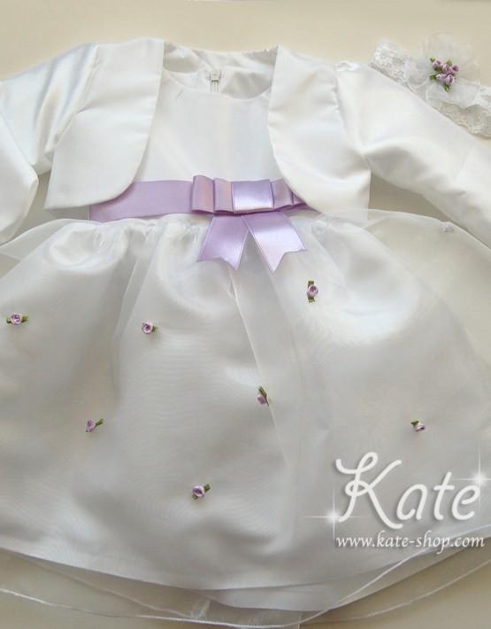Бебешки комплект за кръщене в лилаво