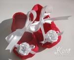 Бебешки буйки в червено и бяло