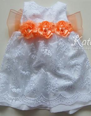 Детска шаферска рокля панделка