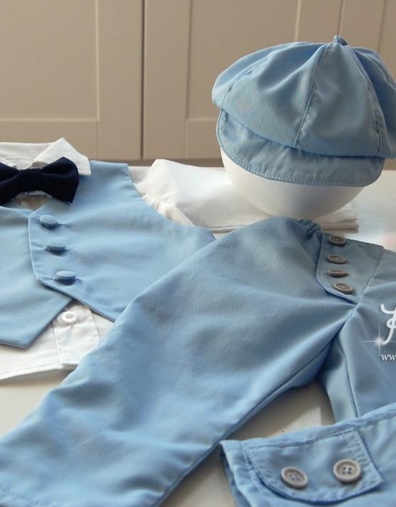 Светло син комплект за кръщене