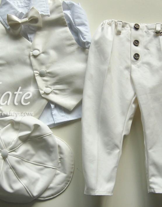 Комплект за кръщенеза момче с тесен панталон