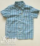 Синя карирана риза за момче