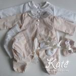 Комплект за изписване на бебе гащеризон,шапка и буйки