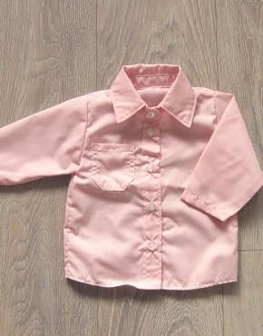 Риза за момче цвят пепел