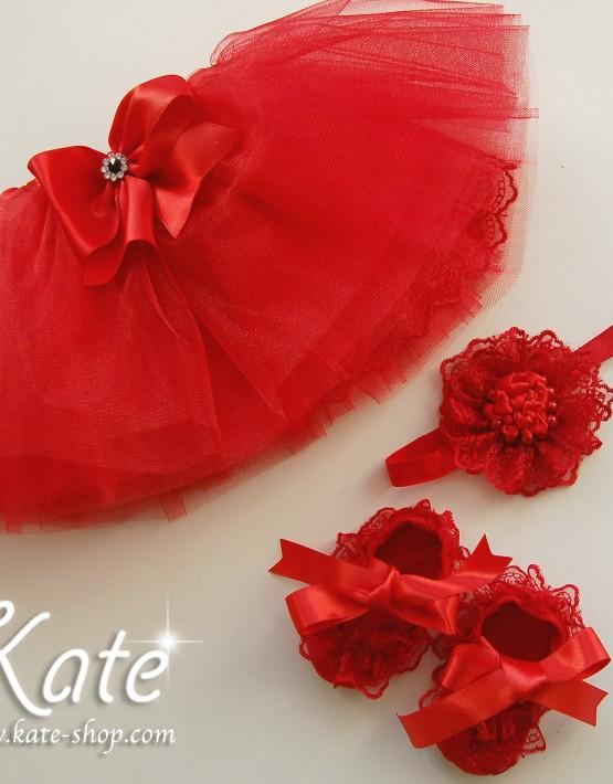 Комплект за бебе в червено