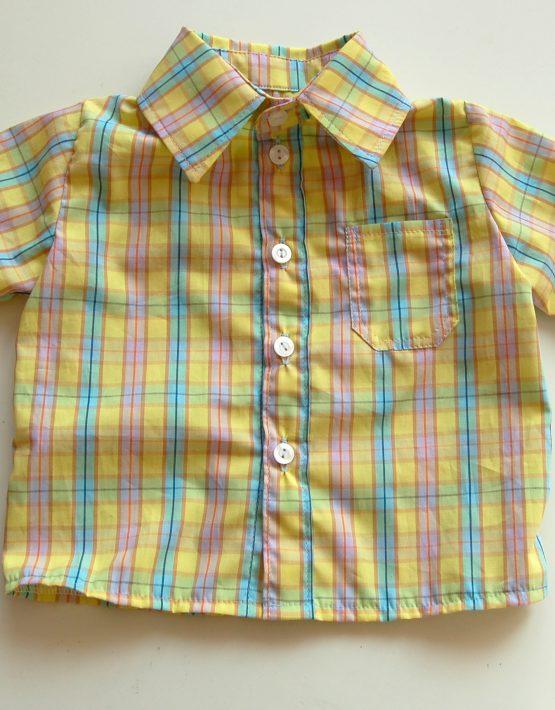 Момчешка риза жълто каре