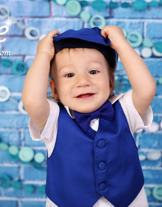 Костюм за момче в турско синьо