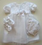 Бебешка рокля за кръщене-дантела