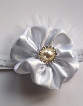 Лента за глава-бяло
