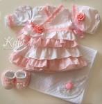 Комплект за изписване на бебе в розово