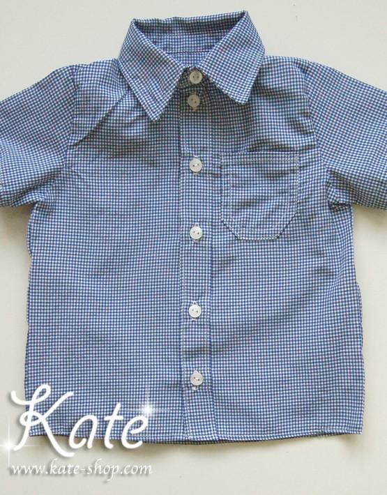 Синя риза за момче -пепит