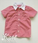 Червена риза за момче -пепит