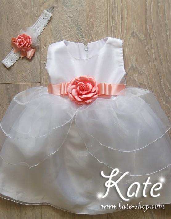 """Детска рокля за кръщене """"Лале"""""""