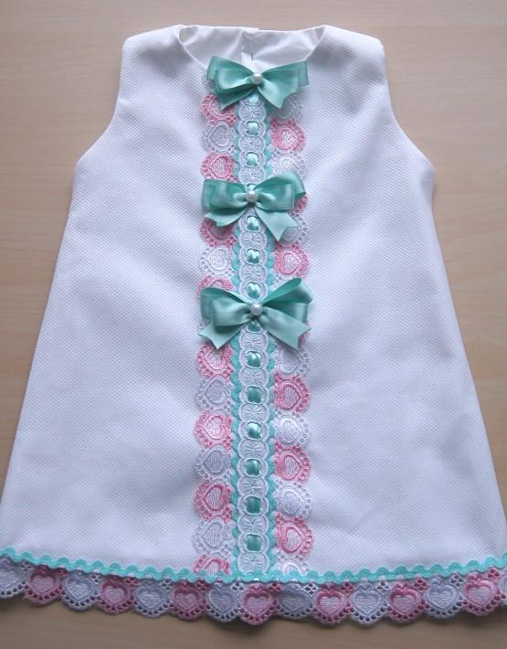 Бебешка рокличка бяла