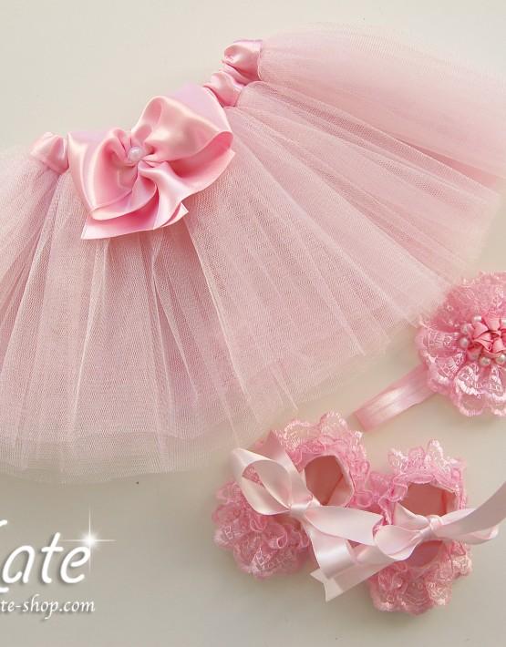 Комплект за бебе в розово