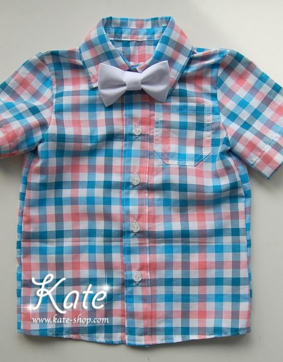 Риза на цветни квадрати