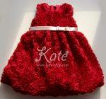 Детска официална рокля бордо