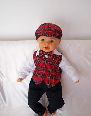 Комплект за момче шотландско каре