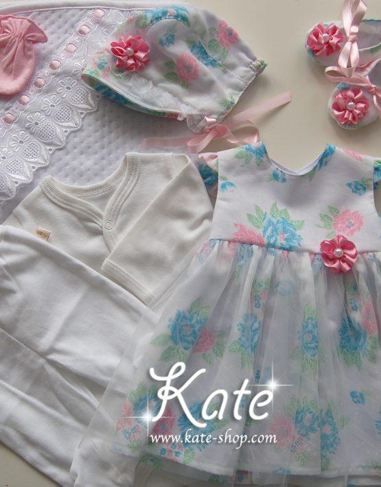 Комплект за изписване за момиче с рокличка на цветя