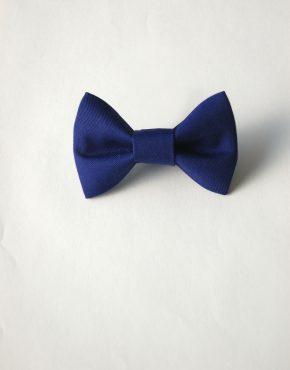 Детска папионка кралско синьо-3